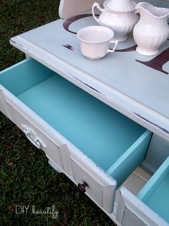 Turn a thrift store hutch into a beautiful, fun and functional Coffee Bar! Find the fabulous tutorial at DIY beautify!
