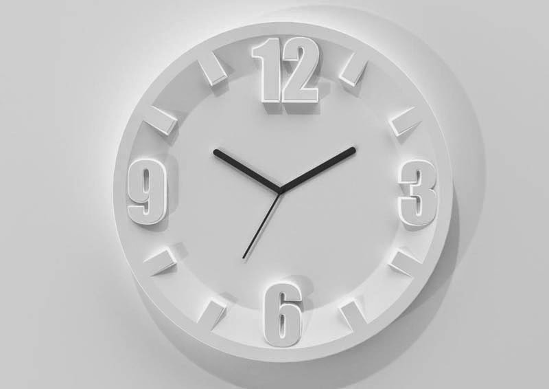 modern white wall clock