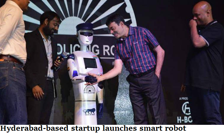 Hyderabad-based startup launches smart robot
