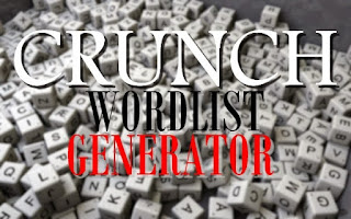 CRUNCH WORDLIST GENERATOR