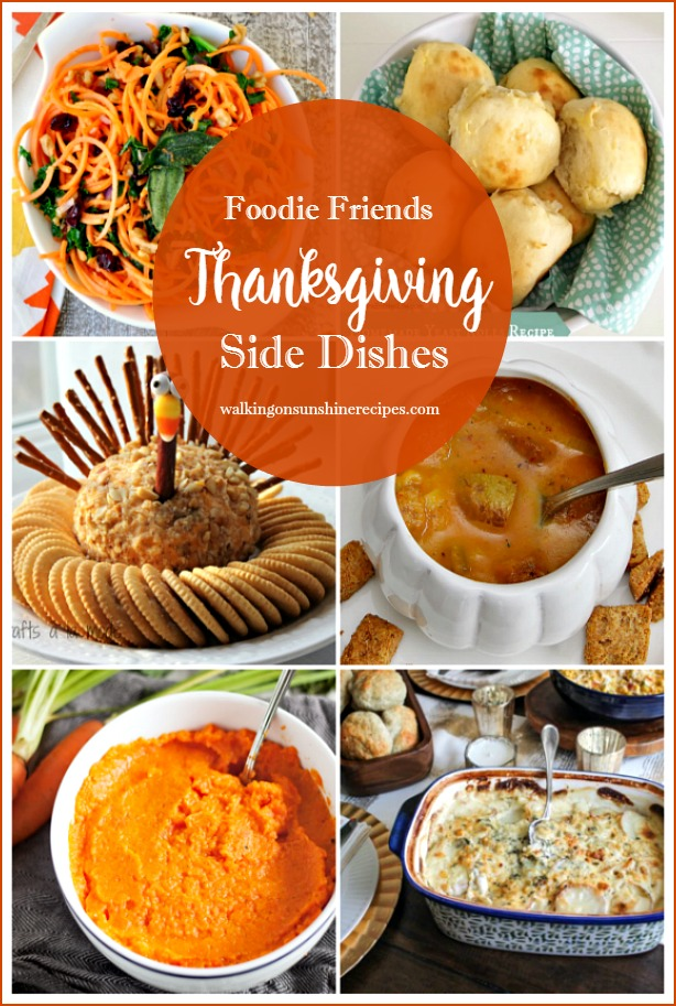 Thanksgiving Side Dishes featured on Walking on Sunshine Recipes