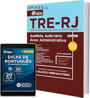 Apostila impressa para o concurso público Tribunal Regional Eleitoral do Rio de Janeiro (TRE RJ) para Técnico Judiciário - Área Administrativa.