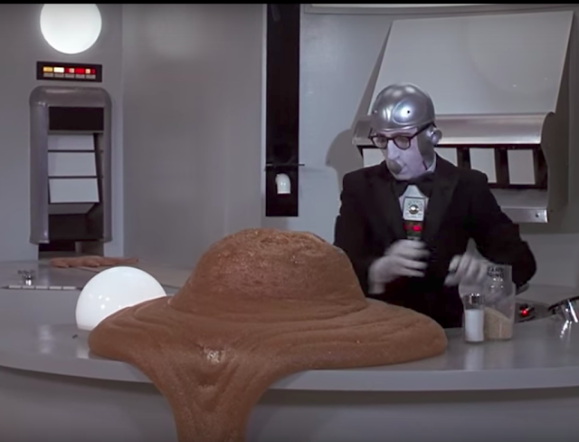 Mae's Food Blog: Woody Allen's Robot Makes Pudding