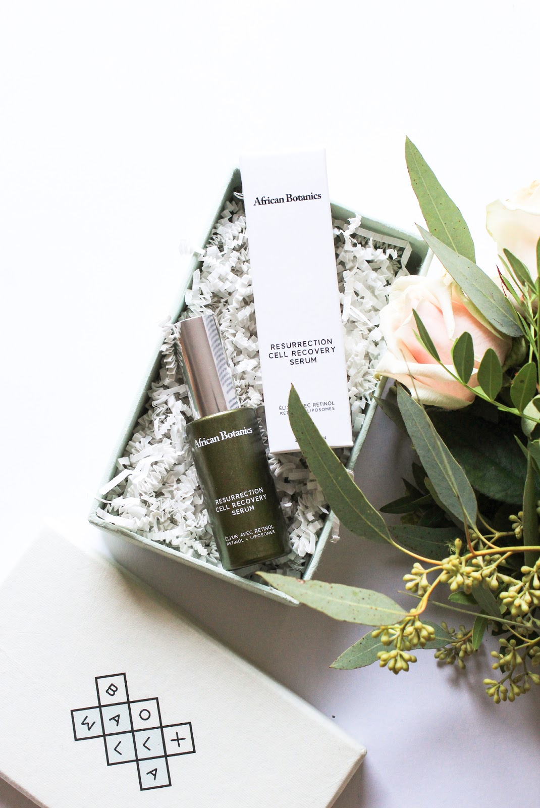 African Botanics Resurrection Cell Recovery Serum October Boxwalla Beauty Box. Plant based retinol, peptides