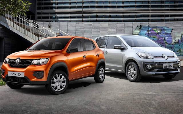 Volkswagen up! TSI  x Renault Kwid - consumo