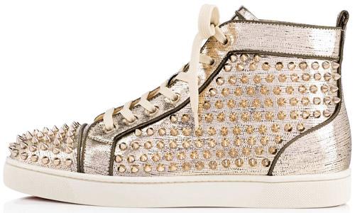 zapatillas doradas hombre Christian Louboutin primavera verano 2017