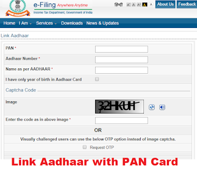 Link Aadhaar with PAN Card
