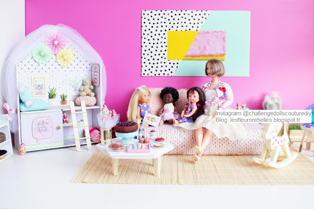 Diorama Barbie Challenge Dolls Couture & DIY