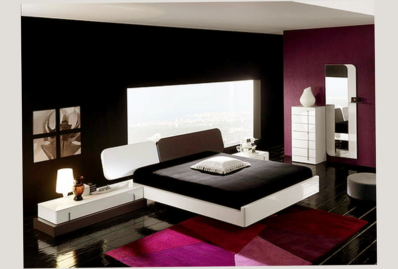 and black color design for fun young adult bedroom ideas elegant style