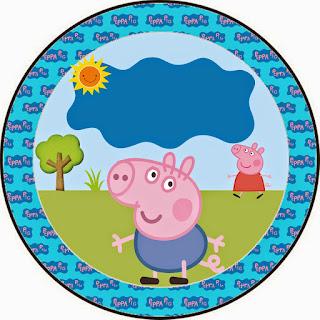 Mini Kit de George Pig para Imprimir Gratis.