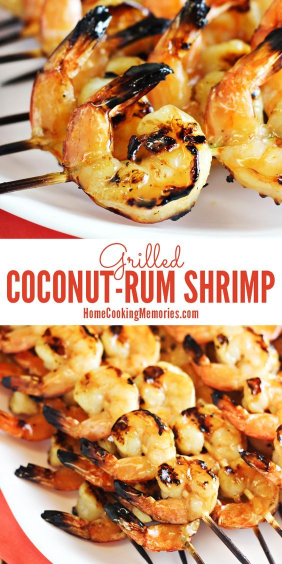 Coconut-Rum Grilled Shrimp Recipe – only 5 ingredients!