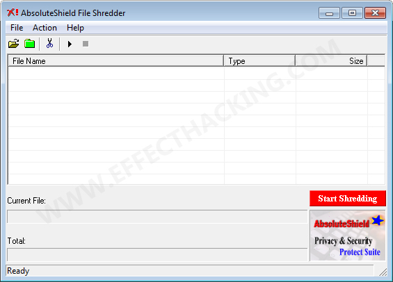 AbsoluteShield File Shredder Screenshot