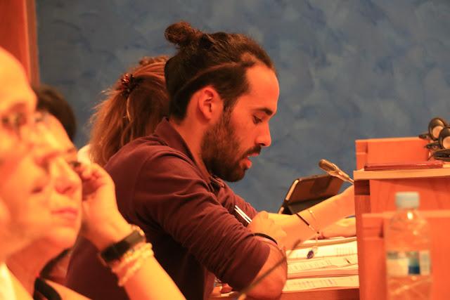 El portavoz de Irabazi, Eder Álvarez