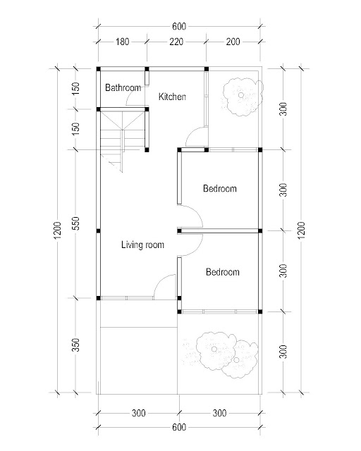 1st Floor Plan for Plan c-28