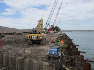 RiverWalk construction at Mt. Elliott Park in Detroit