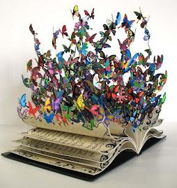 Llibre amb papallones. Libro con mariposas