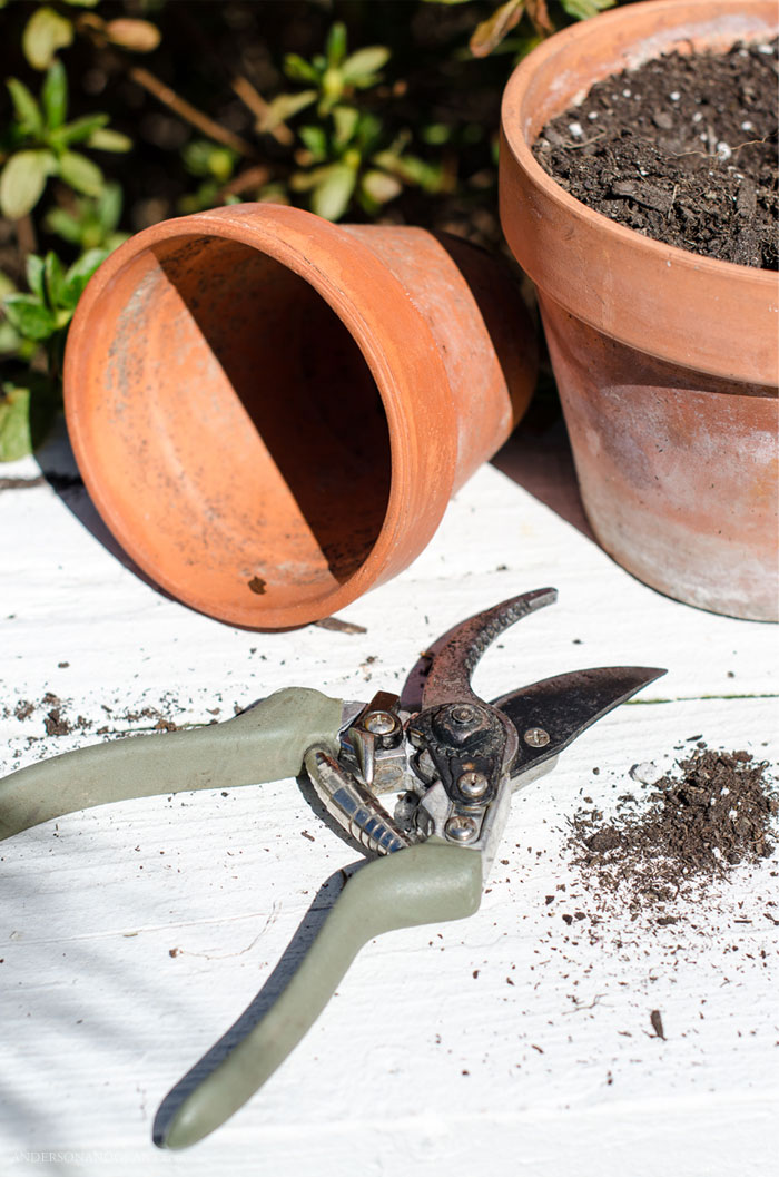 Use this one simple tool to sharpen your garden tools and keep your garden and landscaping healthy.   #gardening #tools #simpletips #helpfultips #andersonandgrant