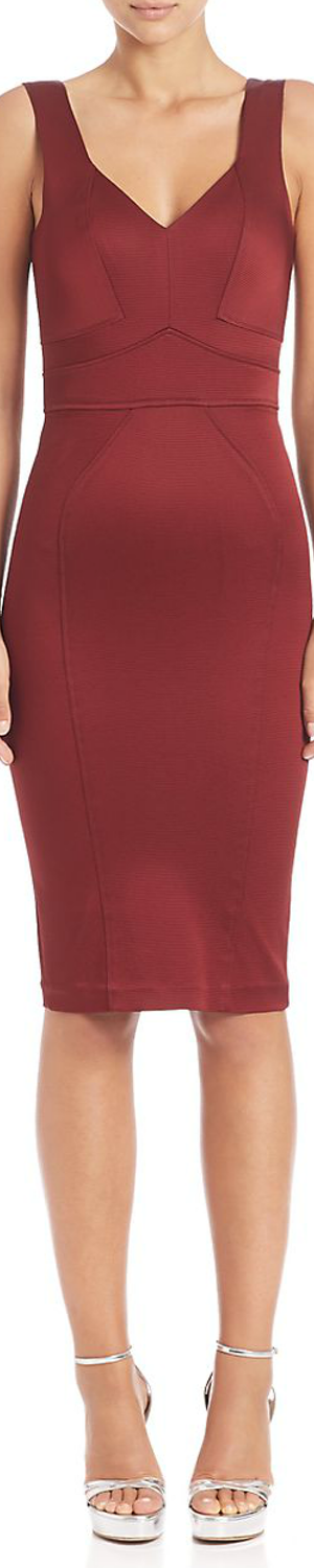 ZAC Zac Posen Marlene Dress shown in Garnet
