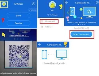 Gambar 5 Cara Menghubungkan SHAREit dari Smartphone ke PC