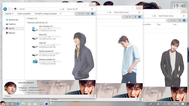 Windows 10 Ver. 1703 Theme Lee Min Ho by Enji Riz