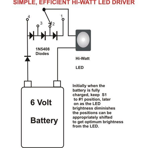 wiring diagram ref simplest efficient 1 watt led driver. Black Bedroom Furniture Sets. Home Design Ideas