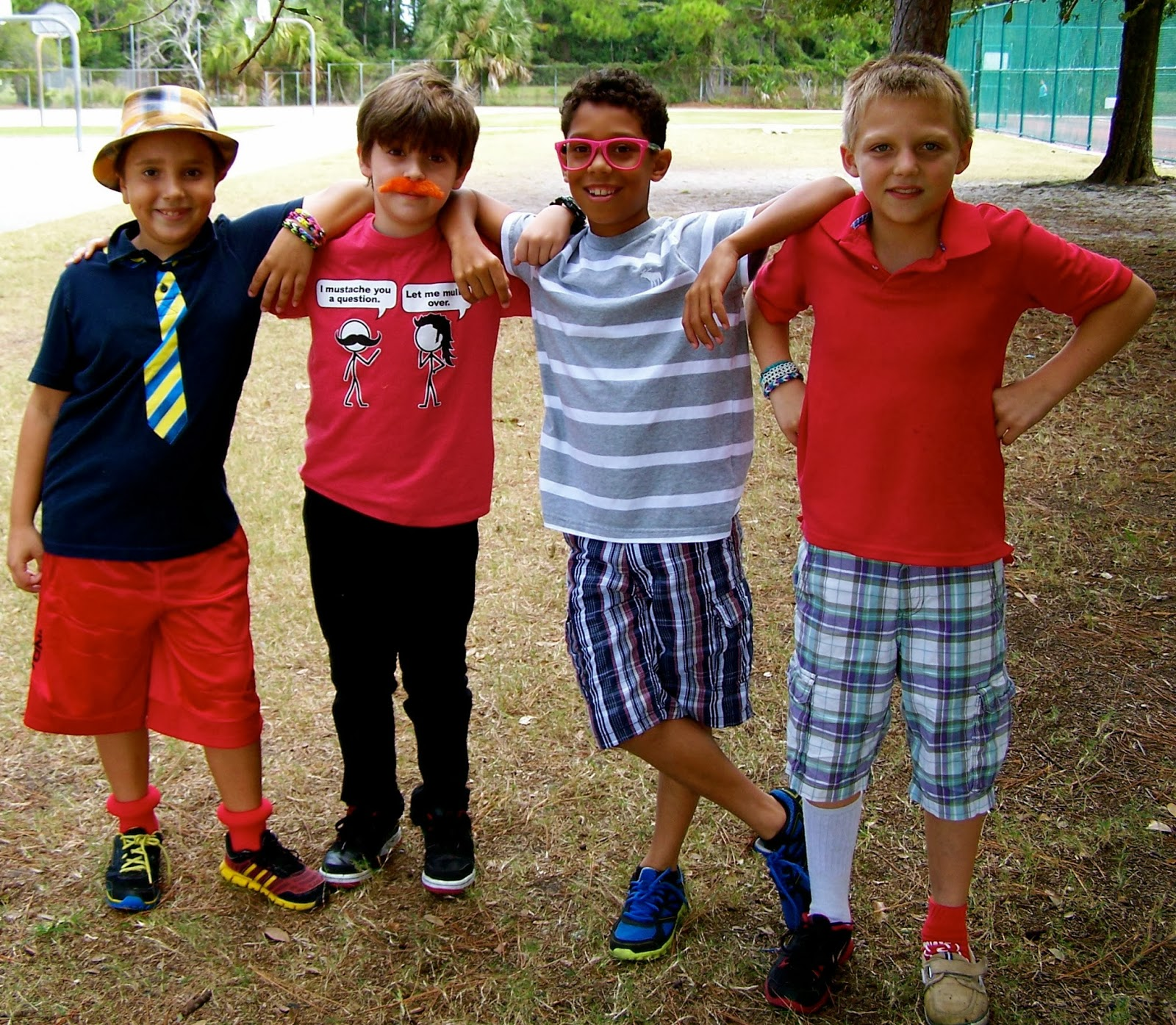 Team Kirkham Remley Fourth Grade Red Ribbon Week Wacky Wednesday