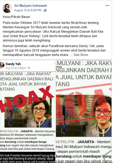 Fakta Viral, Sri Mulyani Siap Jual Bali Demi Bayar Utang Indonesia