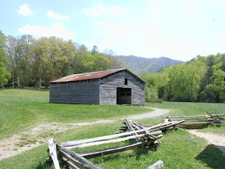 The Dan Lawson barn, built with milled lumber.