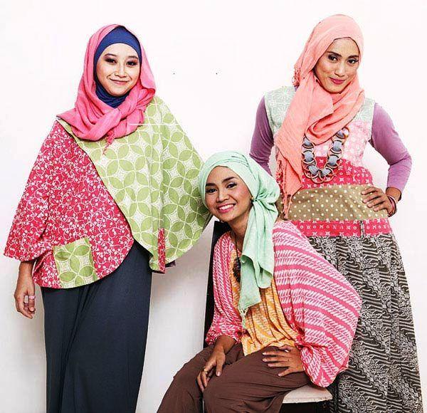 Model Baju Batik Atasan Wanita Modern