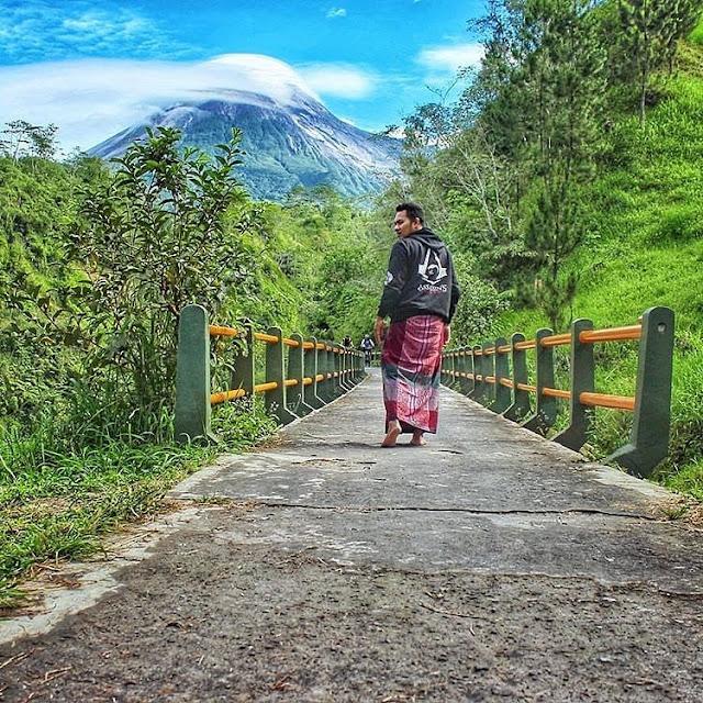 Panorama gunung merapi dari desa plunyon | paket wisata | alamat