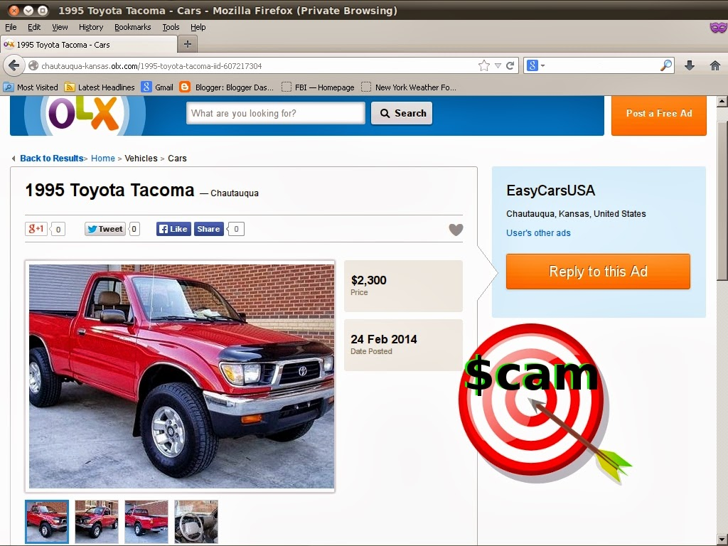 Vehicle Scams Google Wallet Ebay Motors Amazon Payments Ebillme Western Union Money Gram Etc Autotrader Mitula Olx And Everywhere Else Too Scam