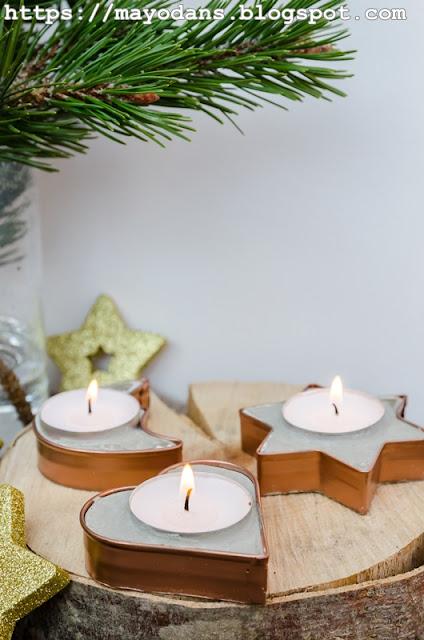 Weihnachtliche Teelichthalter