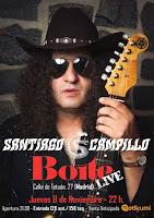 Concierto de Santiago Campillo en Sala Boite