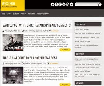 template blog yang menggunakan ALL CAPS