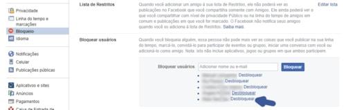 Como desbloquear um amigo no Facebook