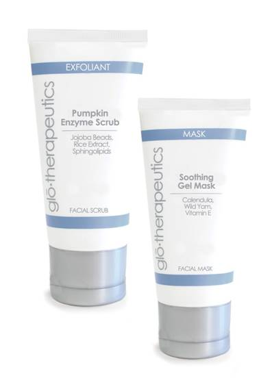 Glo Therapuetics Pumpkin Enzyme Scrub and Soothing Gel Mask