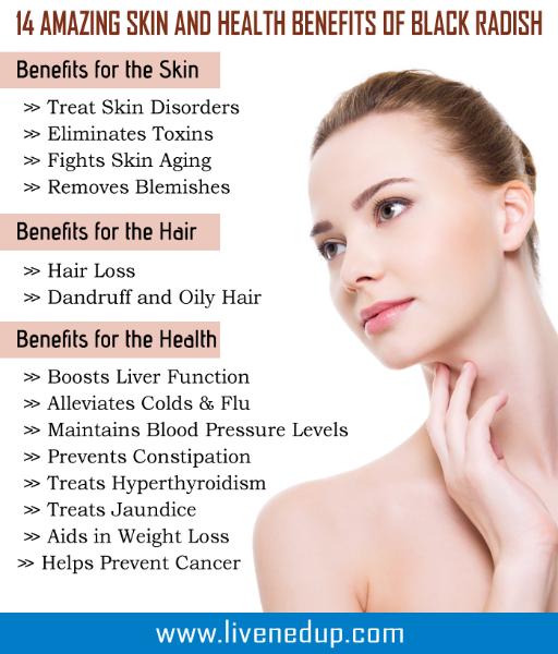 Skin Health: 14 AMAZING SKIN AND HEALTH BENEFITS OF BLACK RADISH