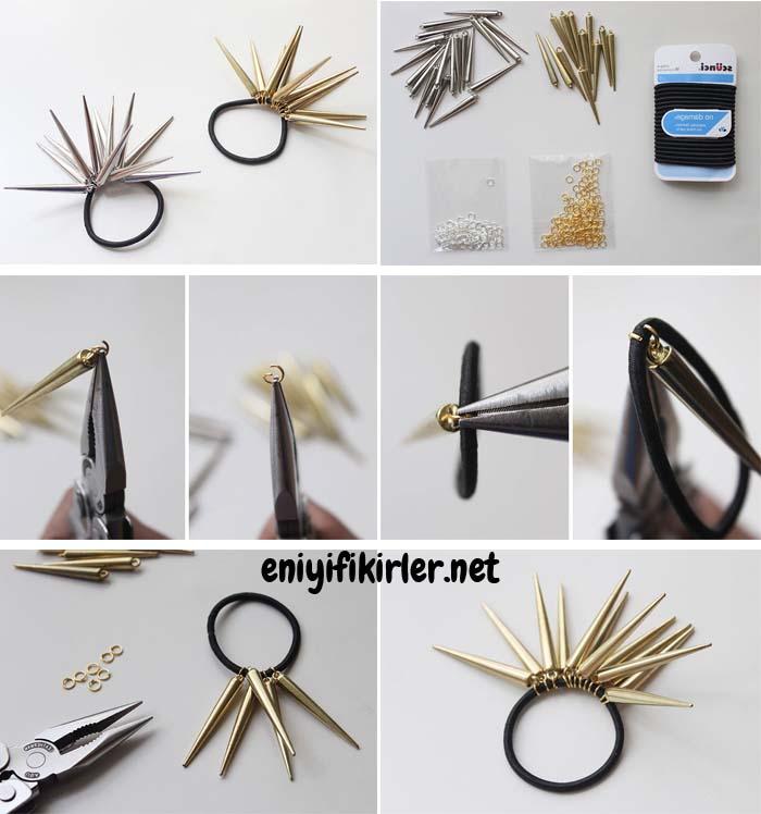 çivili saç modeli aksesuarları yapımı
