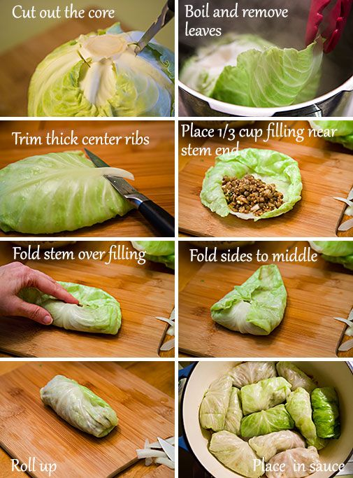 Here's how you stuff Cabbage Rolls!