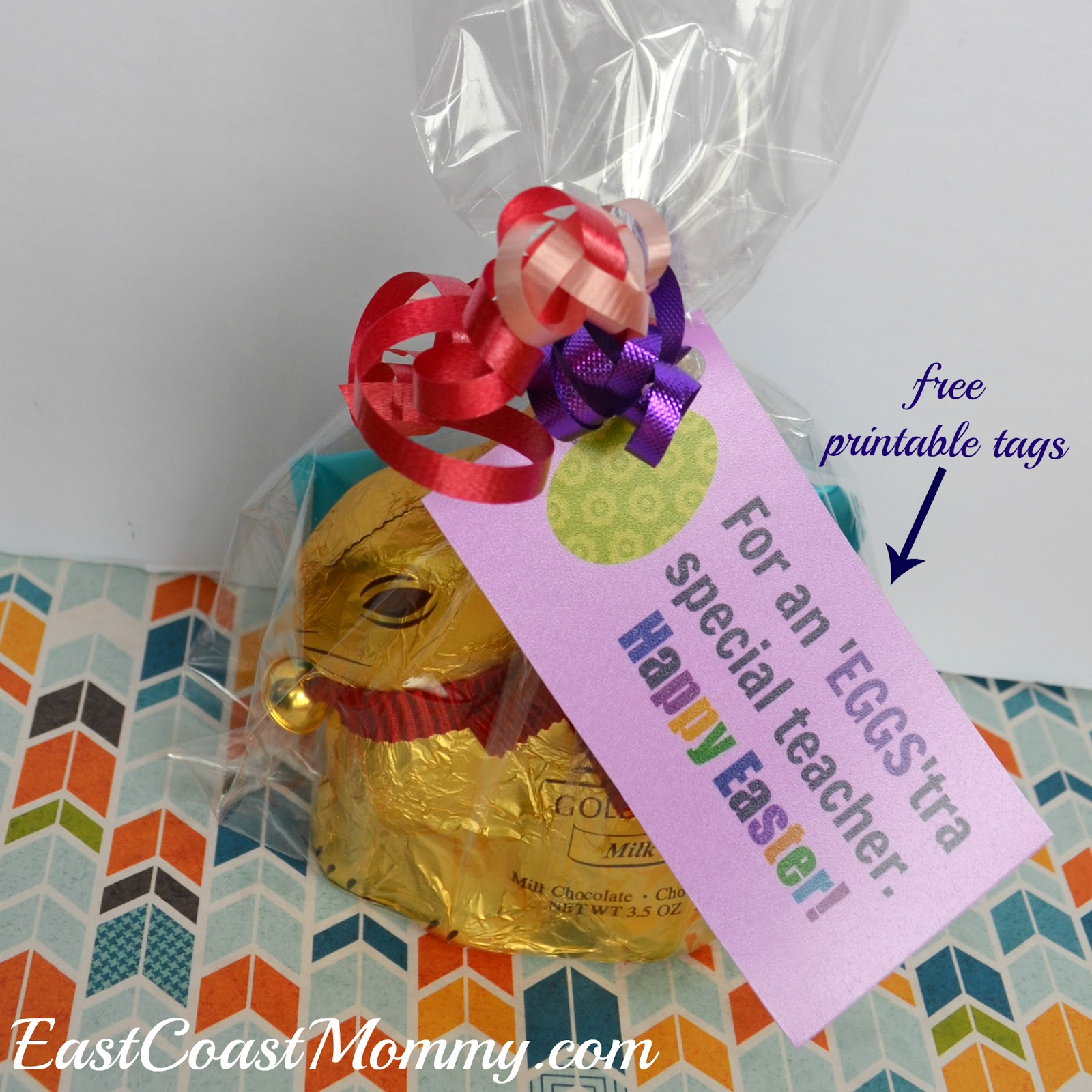 East coast mommy simple easter teacher gift with free printable tags this really is a simple way to recognize the special teacher in your life and the free printable tags are sweet dont you think negle Image collections