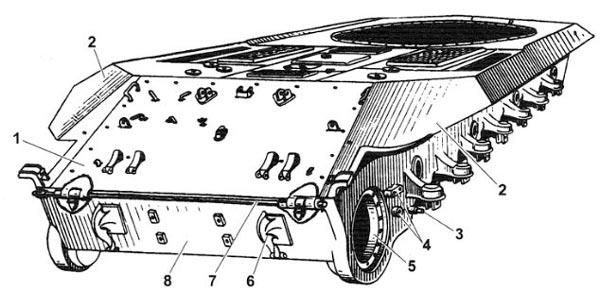 Корпус танка Т-10М (вид на корму)