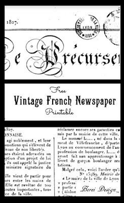 Free-Vintage-French-newspaper-printable-diy-home-decor-crafts
