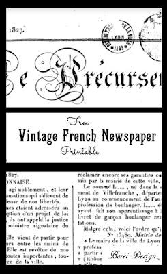 Free-Vintage-French-newspaper-printable-diy-home-decor-crafts