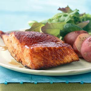 Maple glazed grilled salmon. #tastytuesday #recipe #salmon