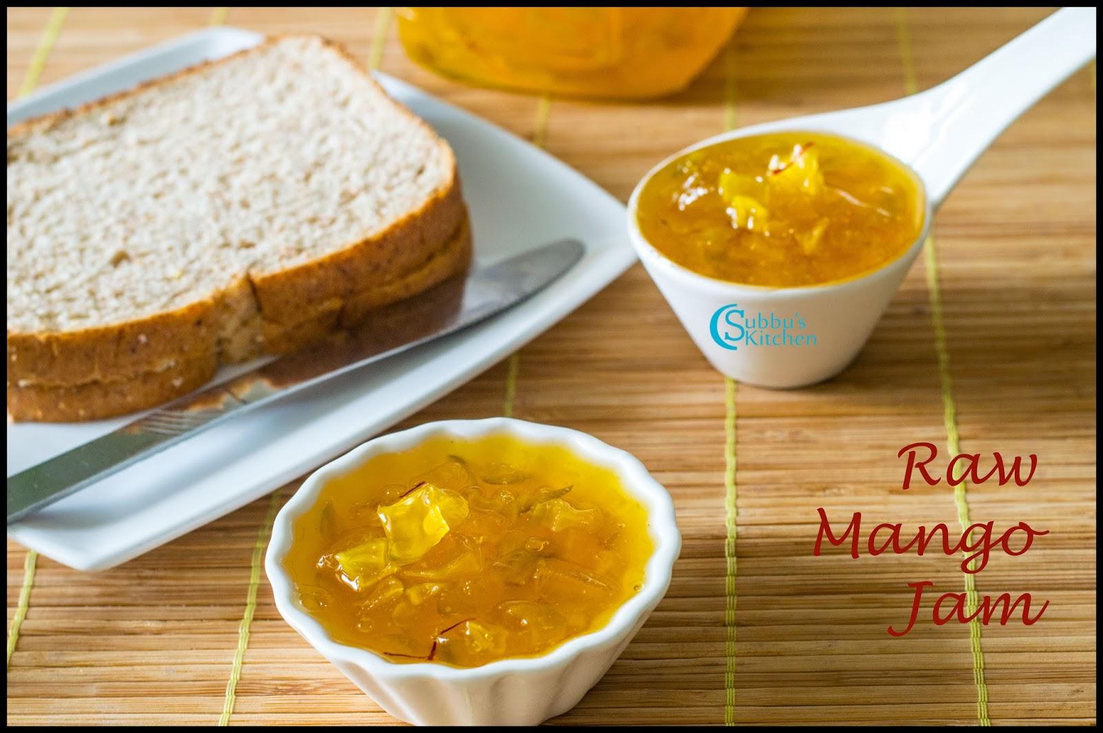 Raw Mango Jam - Subbus Kitchen