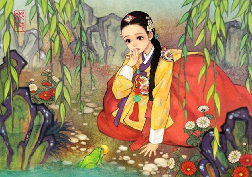 Famous Western Fairytales Get An Eastern Makeover By Korean Artist - Princess And The Frog