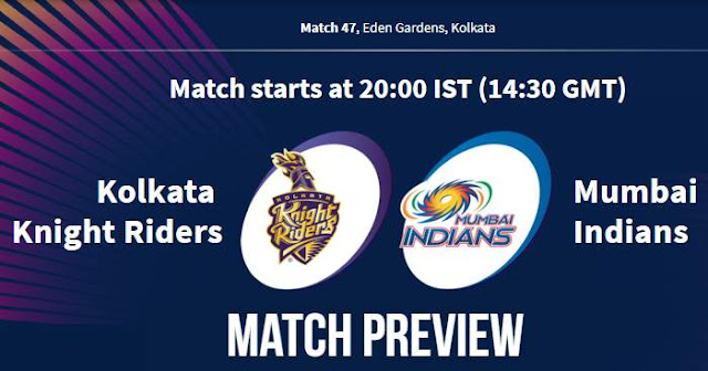 VIVO IPL 2019 Match 47 KKR vs MI Match Preview, Head to Head and Trivia