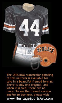 Cincinnati Bengals 1975 uniform
