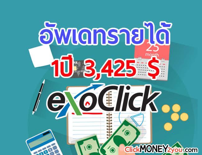 อัพเดทรายได้ Exoclick 1 ปี 2018 กอบโกยมาได้ 110,000 บาท (3,425$)