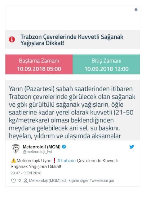 Marmara ve Karadeniz için yağış uyarısı.